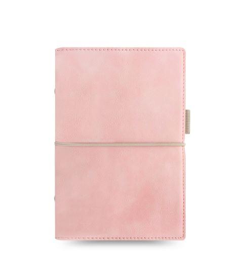 Filofax Domino Soft A6 Personal pastelově růžový diář osobní personální