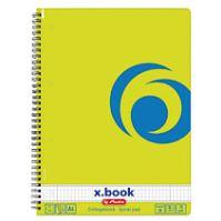 Herlitz x.book blok College kroužkový A4 čtverečkovaný zelený