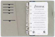 Diář Filofax Domino formát A6 interiér