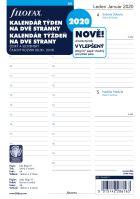 Filofax kalendář A5 2020 týden na dvě strany český