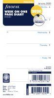 Filofax kalendář A6 2020 týden na jednu stranu anglický