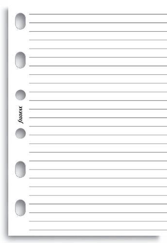 Filofax náplň do diáře formát A7 papír linkovaný bílý 100 listů