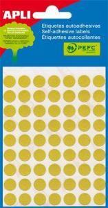 APLI etikety kolečka 13mm žluté 175ks/bal