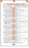 Náplň do diáře ADK A4 plánovací kalendář 2018