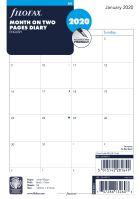 Filofax kalendář A5 2020 přehled měsíců anglický