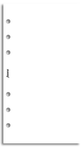 Filofax náplň do diáře formát A6 bílý papír