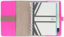 Filofax The Original A5 růžový diář kožený