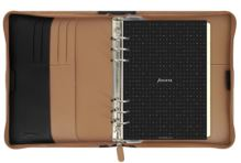 Filofax Nappa Zip A6 Personal hnědočerný diář osobní kožený