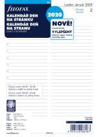 Filofax kalendář A5 2020 den na 1 stranu český