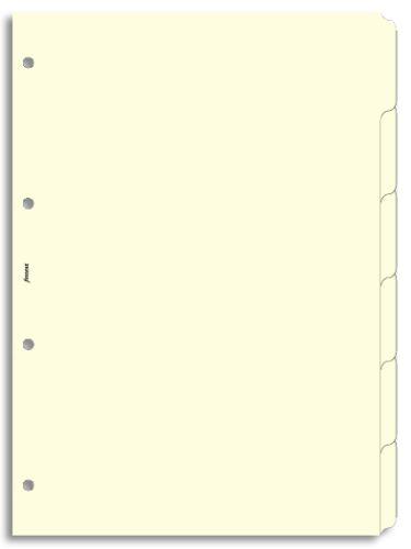 Filofax krajové výřezy krémové A4