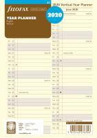 Filofax plánovací kalendář A5 2020 vertikální krémový