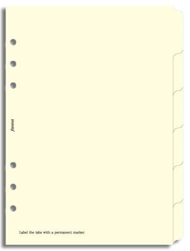 Filofax krajové výřezy krémové A5